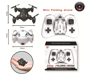 2.4G 6 Axis Gyro piega il mini Drone con fotocamera 2.0MP HD RC Pocket Quadcopter con Headless Mode & One Key Return