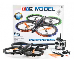 2.4G 6CH RC Propel Quadcopter with 6-AXIS GYRO +2.0MP HD Camera & Light SD00326685