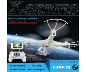 2.4G REMOTE CONTROL QUADCOPTER WITH 6-AXIS GYRO WIFI Drone REAL-TIME