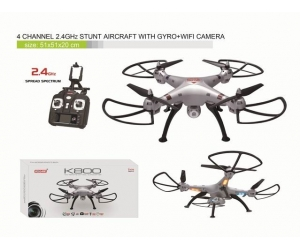 2.4GHz 4CH Stunt RC Quadcopter  Aircraft  With GYRO  +480P Camera +Wifi image Transmission  +Mobile phone Controlled  SD00328149