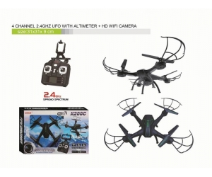 2.4GHz K200C-HW7 WIFI RC Drone With 2.0MP Camera Altitude Hold Headless Mode