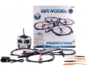 2.4Ghz 6 CH Remote Control  Quad copter with 6 AXIS GYRO & Light