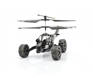 3.5 infrared alloy helicopter can fly in the sky, and running on the land with shooting