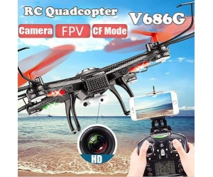 FPV WiFi Headless Mode 4CH 6-Axis Gyro RC Quadcopter with Camera