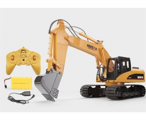 Hot Sale Toys 15 Channel 2.4G 1/12 Electric RC Metal Excavator With 680-degree Rotation RC Car With Battery RTG