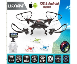 Medium Size RC Drone With Camera 2.4GHz 6 Axis RC Quad copter With LED Headless Mode Wifi Real Time Transmission