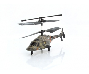 Mini infrared control military helicopter with gyro