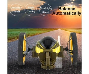 Newest !!2.4GHz Radio Control Bounce Car Jumping Robot RC Toy For Sale