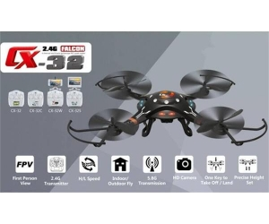 Quadcopter 2.4GHz 4CH 6 Axis Gyro 5.8G FPV DRONE WITH 2.0MP HD CAMERA