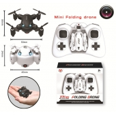 China 2.4G 6 Axis Gyro Folding Mini Drone With 2.0MP HD Camera RC Pocket Quadcopter with Headless Mode& One Key Return factory