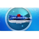 La fábrica de China Mini RC Submarino Azul RC Toy tiburón Venta SD00324410