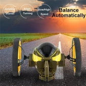 China Nieuwste !! 2,4 GHz Radio Control Bounce Car Jumping Robot RC Toy For Sale fabriek